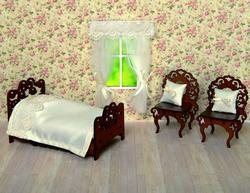 """Шторы, покрывало для кровати, подушки для кукольного домика """"Ванильный коктейль"""" 59645-2"""