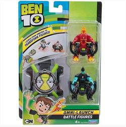Бен 10 Омнизапуск с двумя фигурками Человек-огонь и Молния 76791