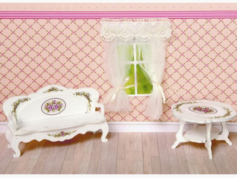 Мебель для кукол Одним прекрасным утром - Гостиная Прованс 59411