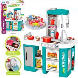 Детская игровая кухня с водой Kitchen Chef, свет и звук 53 предмета, 72 см 922-46 бирюзовая