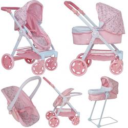 Беби Анабель коляска для кукол трансформер 7 в 1 стульчик, качели и кресло Zapf Creation 1423556