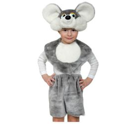 Костюм мышки шапка манишка и шорты  рост 98 -136 см Р5234