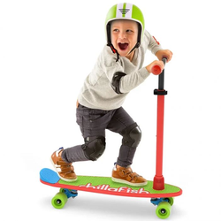 Самокат - скейтборд Chillafish Skatie Skootie Скейти Скути 2 в 1