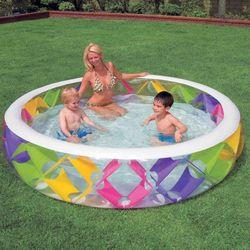 Бассейн надувной с цветными вставками 56494