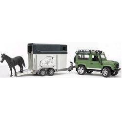 BRUDER Внедорожник Land Rover Defender с прицепом и лошадью 02-592