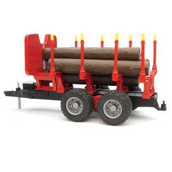 BRUDER Прицеп для перевозки леса с брёвнами 02-251
