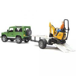 Внедорожник Land Rover Defender c прицепом и экскаватором 8010 CTS 02-593