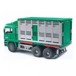 BRUDER Фургон MAN для перевозки животных с коровой 02-749