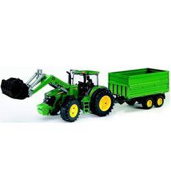 BRUDER Трактор John Deere 7930 с погрузчиком и прицепом 03-055