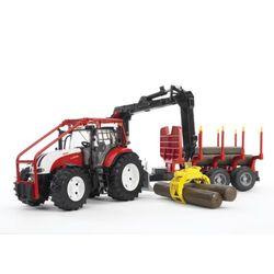 BRUDER Трактор Steyr CVT 6230 лесной с манипулятором и прицепом с брёвнами 03-093
