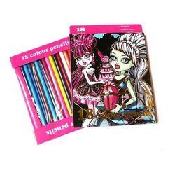 Набор карандашей цветных Школа Монстров 18 цветов 208