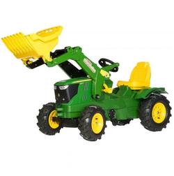 Rolly Toys Трактор педальный надувные колеса rollyFarmtrac John Deere 6210R от 4 лет