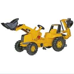 Трактор педальный rollyJunior CAT Backhoe-Loader 813001 от 4-х лет