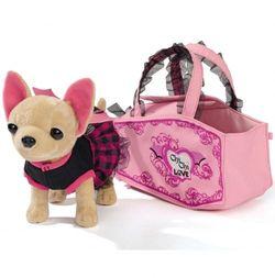 Chi Chi Love Собачка Чи чи лав  Вампирчик в платье с крылышками, в сумочке, 20 см 5894839
