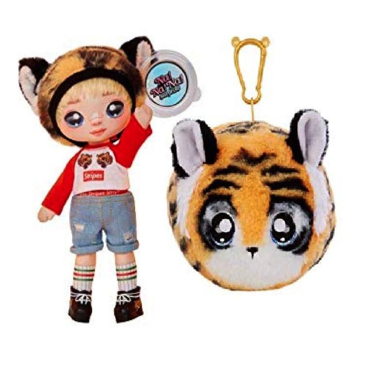 Кукла Na Na Na Surprise CJ Cuddies мальчик - тигр