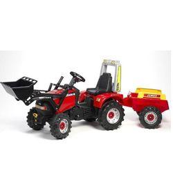 Трактор педальный с прицепом и ковшом 206 см красный FAL 960AM
