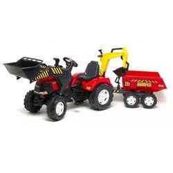 Трактор педальный Falk с прицепом и ковшом красный FAL 1002W