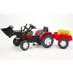Трактор педальный с прицепом и ковшом красный 191см FAL 1021M
