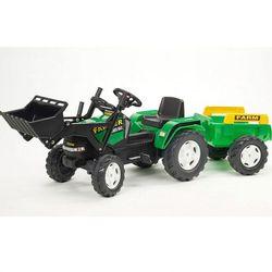 Трактор педальный с прицепом и ковшом зеленый FAL 1022M
