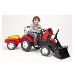 Трактор педальный FALK с прицепом и ковшом 191см красный FAL 2020AM