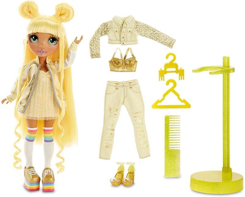 Кукла Surprise Rainbow High Sunny Madison + 2 комплекта одежды 569626