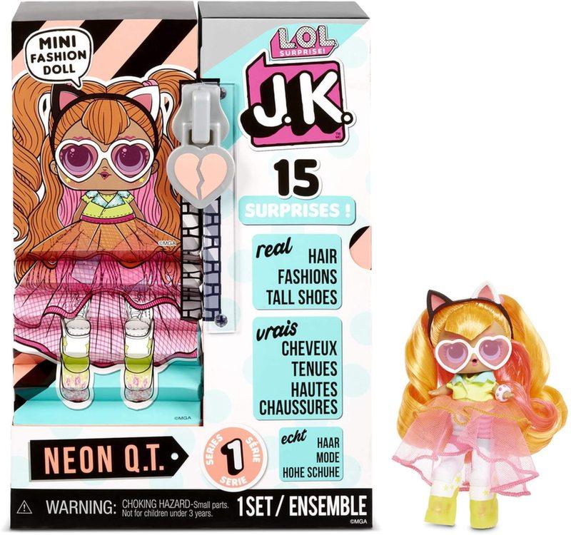 LOL Surprise JK Neon QT мини кукла + 15 сюрпризов 570776