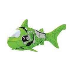 Robo Fish Роборыбка Акула зеленая плавает в воде 2501-7