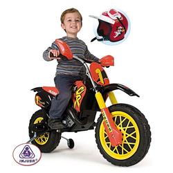 Аккумуляторный мотоцикл 6V Moto Cross CR со шлемом Injusa 677