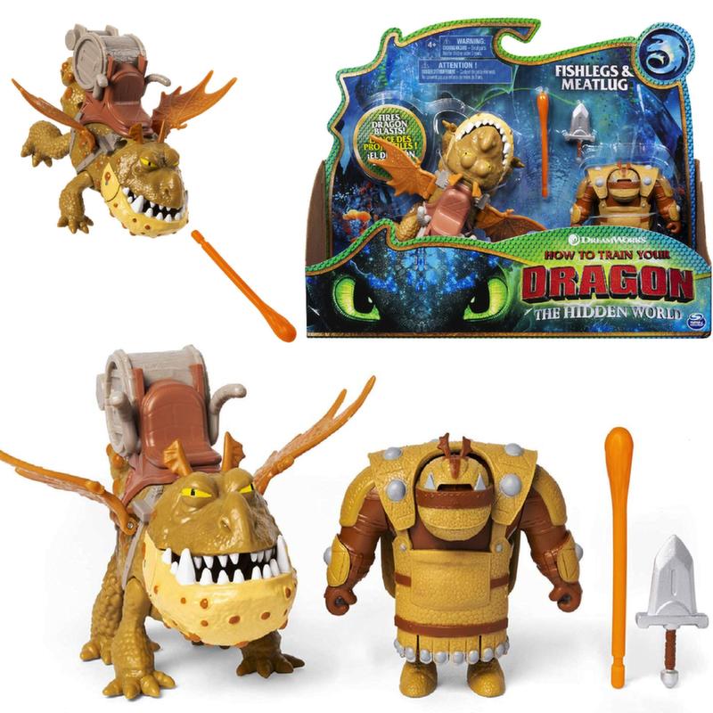 Dragons игрушка Дракон Сарделька с викингом  66621/6
