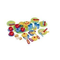 Игровой набор посуды с подносом Playgo 3126