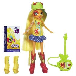 Кукла Эпл Джек Apple Jack Радужный рок My Little Pony Equestria Girls A3995/A7251