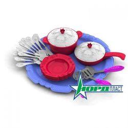 Набор посуды Кухонный сервиз Волшебная Хозяюшка, 23 предмета на подносе 616