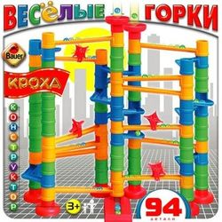 Конструктор Веселые горки 94 элемента Кроха 051b