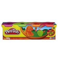 Набор пластилина Play-Doh 4 баночки неоновые цвета Hasbro 22873