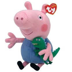 Мягкая игрушка Peppa Pig Джорж с динозавриком 20 см 46130