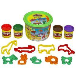 Мини-набор пластилина Play-Doh Ведерко с формочками Животные Hasbro 23413/23414