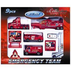 Welly набор машинок Велли Служба спасения - пожарная команда 9шт 98630-9C