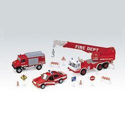 Welly набор машинок Велли Пожарная служба 10шт 99610-10B