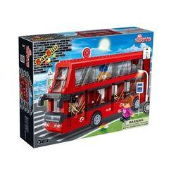 Конструктор BanBao Транспорт 2-х этажный автобус 412 деталей 8769
