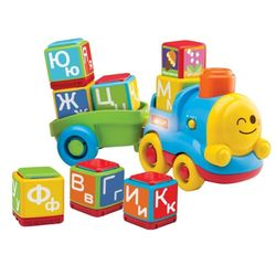 Обучающий паровоз Азбука с кубиками Bkids 04357