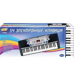 Детский синтезатор с микрофоном электронный, 54 клавиши Rinzo D-00003