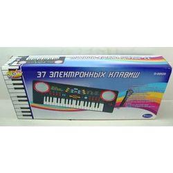 Детский синтезатор электронный черный 37 клавиш D-00020 (968B)