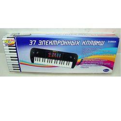 Синтезатор (электронное пианино) детский, 37 клавиш, с дисплеем, микрофоном D-00024 (SD981A)