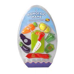 Игровой набор овощей для резки на липучках Помогаю Маме 10 предметов РТ-00151