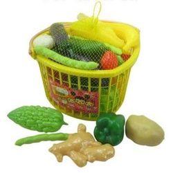 Игровой набор Овощей в корзинке 25 предметов в сетке
