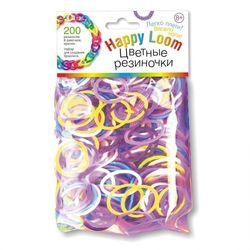 Цветные резиночки Набор для создания браслета Happy loom, 200 резинок 01509