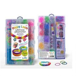 Цветные резиночки Набор для создания браслета Happy loom, 4000 резинок 01510