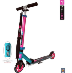 Самокат двухколесный Y-SCOO RT mini city 125 Montreal  pink+ light blue