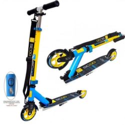 Самокат двухколесный Y-Scoo RT mini city 125 Montreal yellow+light blue