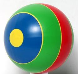Детский мяч резиновый 200мм  С-102ЛПв